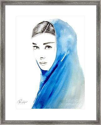 Audrey Hepburn 3 Framed Print by Andrea Realpe