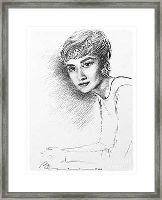 Audrey Hepburn  Framed Print by Barbara Chase