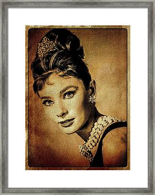 Audrey Hepburn Hollywood Actress Framed Print by Esoterica Art Agency