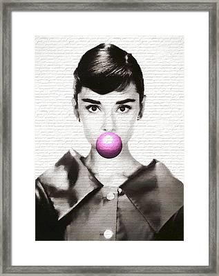 Audrey Hepburn Modern Pop Art Framed Print