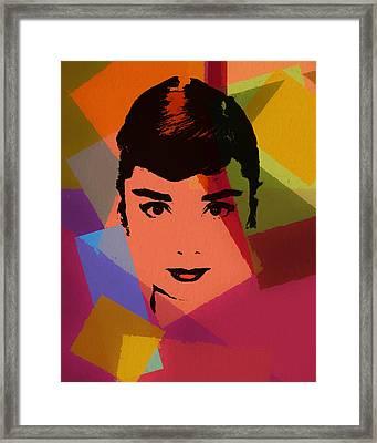Audrey Hepburn Pop Art 1 Framed Print