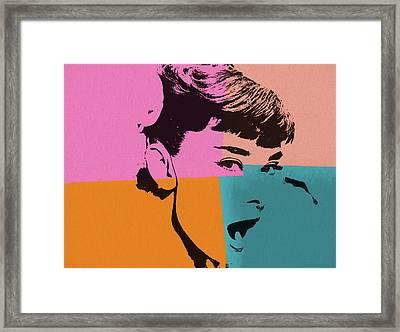 Audrey Hepburn Pop Art 2 Framed Print