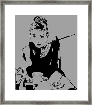 Audrey Hepburn Framed Print by Ryan Burton