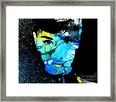 Audrey Hepburn Framed Print by Sir Josef - Social Critic -  Maha Art