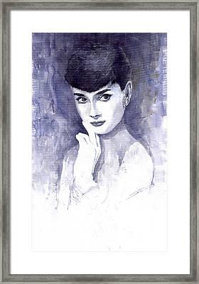 Audrey Hepburn  Framed Print by Yuriy  Shevchuk