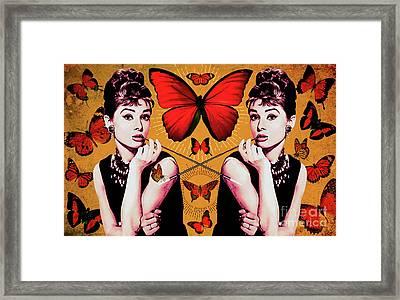 Audrey Hepburn_popart05 Framed Print by Bobbi Freelance