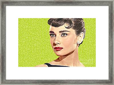 Audrey Hepburn_popart06-3 Framed Print by Bobbi Freelance