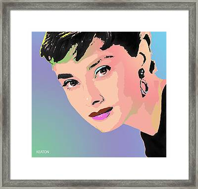Framed Print featuring the digital art Audrey by John Keaton