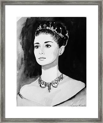 Audrey Framed Print by Laura Rispoli