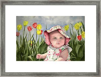 Audrey Framed Print by Sam Sidders