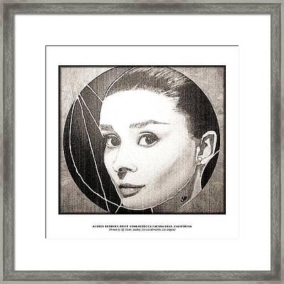 Audreyhepburnprint Framed Print by Rebecca Tacosa Gray