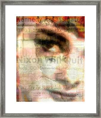Audrey Scape - Audrey Hepburn Pop Art Canvas Framed Print by Leah Devora