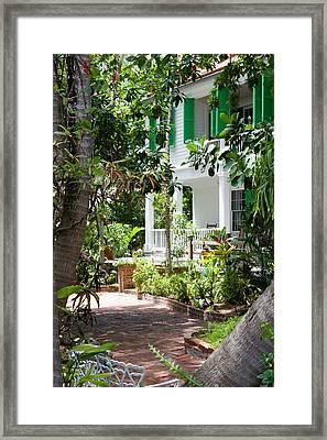 Audubon House Entranceway Framed Print