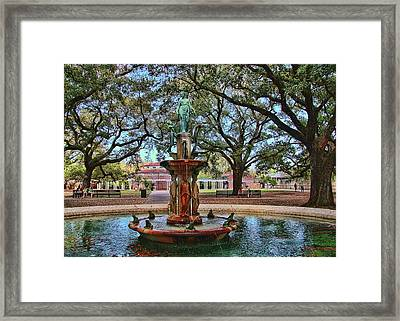 Audubon Zoo Fountain Framed Print