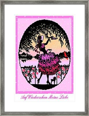 Auf Wiedersehen Meine Liebe - Vintage Illustration Framed Print