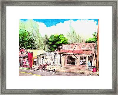 Auggies Pool Hall Framed Print