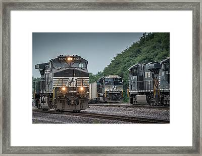 August 23, 2016 Norfolk Southern 9065 At Princeton In Framed Print by Jim Pearson