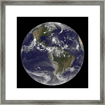 August 24, 2011 - Satellite View Framed Print