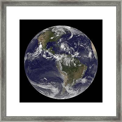 August 24, 2011 - Satellite View Framed Print by Stocktrek Images