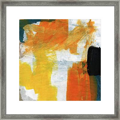 August- Abstract Art By Linda Woods. Framed Print