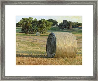 August Bales Framed Print by Bruce Morrison
