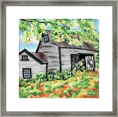 August Barn Framed Print by Linda Marcille