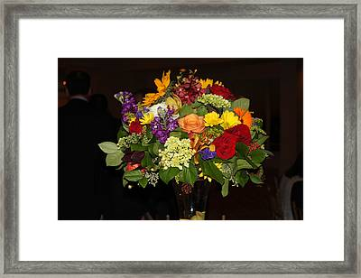 August Bouquet Framed Print by Lyn Vic