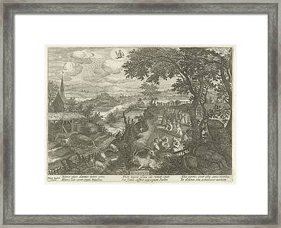 August Framed Print by Celestial Images