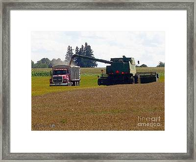 August Harvest Framed Print by J McCombie