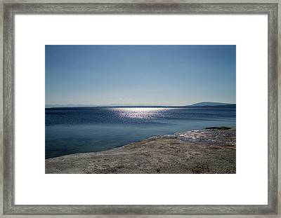 August High Noon Yellowstone Lake 01 Framed Print