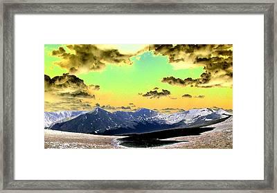 August Sky Framed Print by Peter  McIntosh