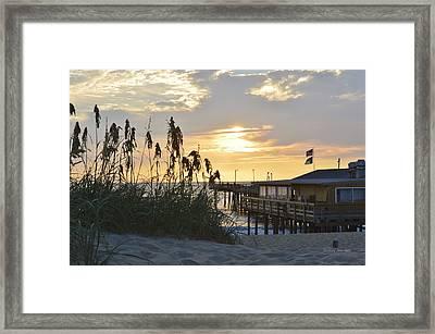 August Sunrise On The Obx  Framed Print