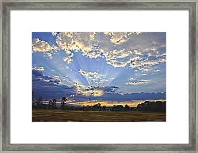 August Sunrise Framed Print