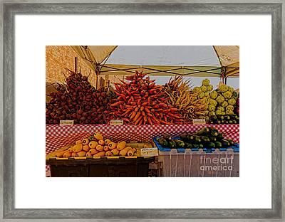 August Vegetables Framed Print