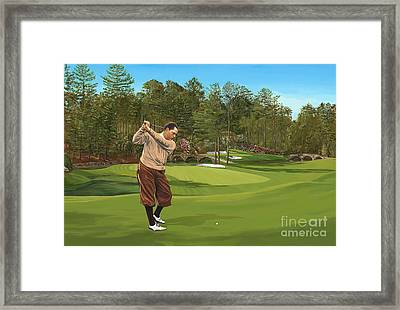 Augusta 11 And 12th Hole Bobbyjones Framed Print by Tim Gilliland