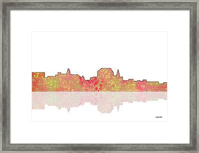 Augusta Maine Skyline Framed Print
