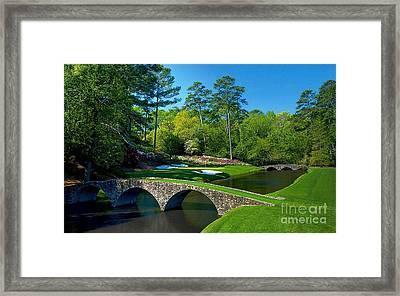Augusta National #12 - Golden Bell Framed Print by Michael Graham
