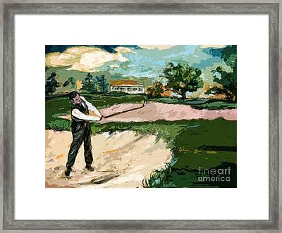Augusta National Bobby Jones Vintage Golf Framed Print by Ginette Callaway