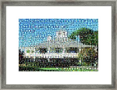 Augusta National Clubhouse Mosaic Framed Print by Paul Van Scott