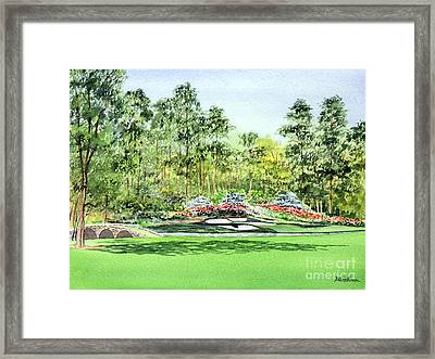 Framed Print featuring the painting Augusta National Golf Course by Bill Holkham