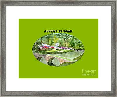 Augusta National Golf Course With Banner Framed Print by Bill Holkham