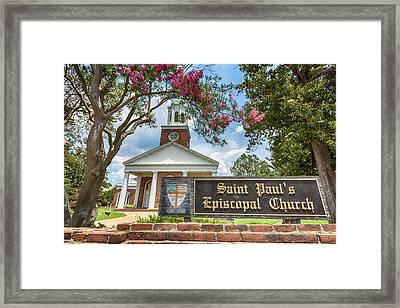 Augusta - Saint Paul's Episcopal  Framed Print