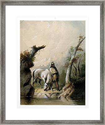 Auguste And His Horse Framed Print