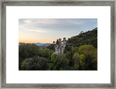 Augusto's Bridge Framed Print by Davide Gennari