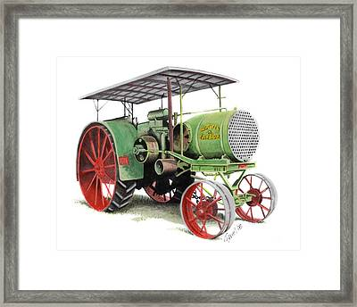 Aultman And Taylor Tractor Framed Print by Ferrel Cordle