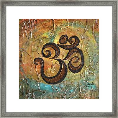 Framed Print featuring the painting Aum by Agata Lindquist