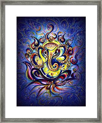 Aum Ganesha - Bliss Framed Print by Harsh Malik