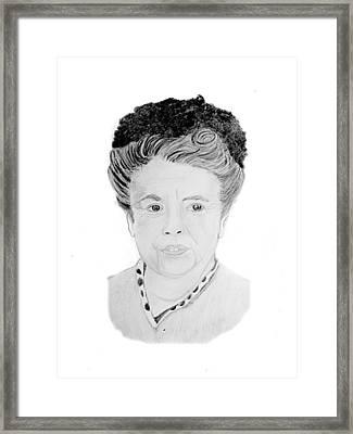 Aunt Bea Framed Print by Dale Ballenger