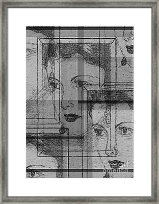 Aunt Edie Black And White Print Framed Print