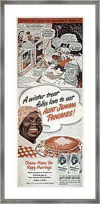 Aunt Jemima Ad, 1948 Framed Print by Granger